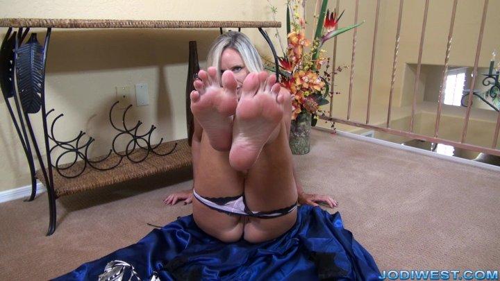 Jodi West -  Foot worship tease  image.