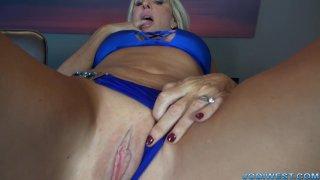 Jodi West -  kitchen masturbation