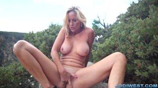 Jodi West - outdoor canyon masturbation
