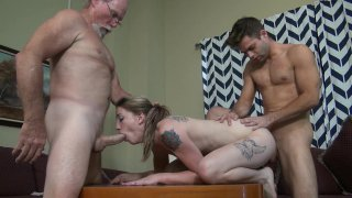 Streaming porn video still #3 from Gangbang My Daughter With Me!