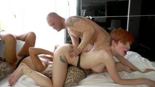 Streaming porn video still #8 from Nacho's Threesomes 2