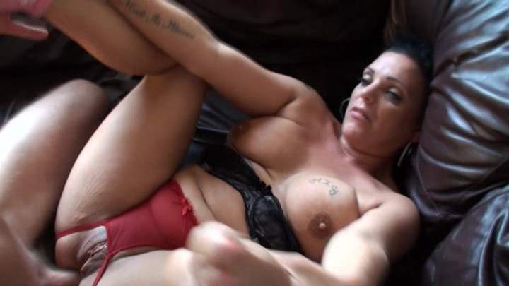 Mature intense double creampie