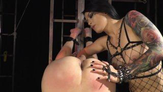 Streaming porn video still #2 from Strapdomme 2: Bound For Pegging